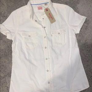 Levi's western button up shirt